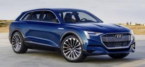 Audi e-tron quattro concept blue front