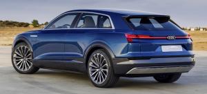 Audi e-tron quattro concept blue rear