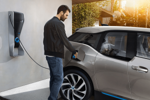 BMW i3 charging garage