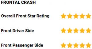 Tesla Model X NHTSA frontal crash ratings