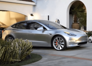 tesla model 3 silver solar roof video
