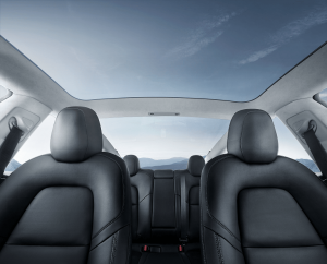 tesla model 3 interior glass roof