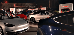 tesla model 3 charging fremont supercharger