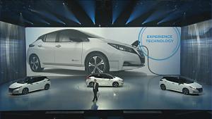2018 Nissan LEAF unveil Tokyo Japan 2017