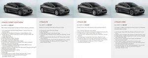 jaguar i pace first edition s se hse 2019 specifications